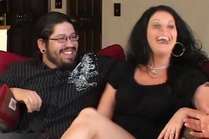 lewd married woman rides ramrod pov