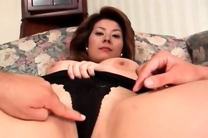 hot oriental milf is stroked by wo concupiscent