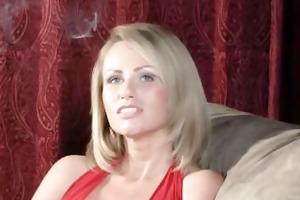 smokin blond with piercing marangos