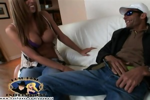 breasty wife lauren wants to make a home movie...