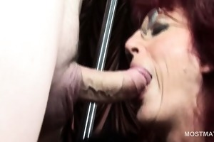 aged hookers licking chap ass and engulfing rods