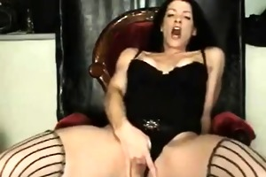 aged wife fingering her slit very well