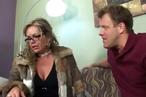 excited stepmom takes advantage of her stepson
