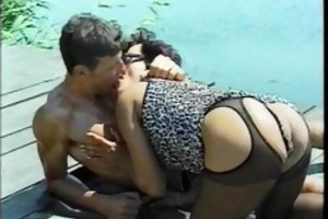 wife cums and leaves a lot of lewd flow