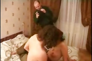 redhead mother i three-some screwed by 2 boyz