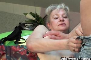 grandma in heat needs to receive off