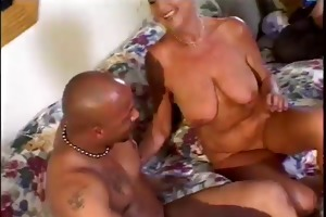 hot non-professional granny have sex with 2 boys