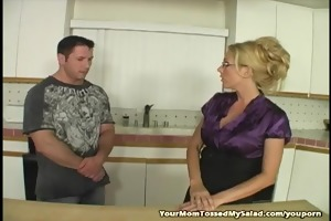golden-haired mother i licking chaps ass and