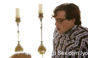 youthful pair receives hands-on sex lessons from