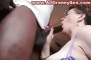 granny screwed by a dark cock