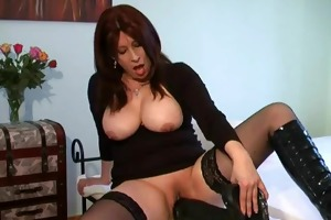 breaking her bawdy cleft with a gigantic monster