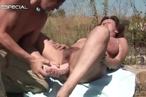 steamy housewife getting her curly muf gangbanged