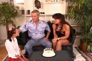 mamma and step-dad celebrate bitch step-daughters
