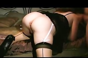 hawt wife in stocking getting a creampie from
