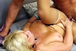 excited granny enjoys being screwed by a younger