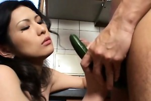 japanese milf giving a blowjob