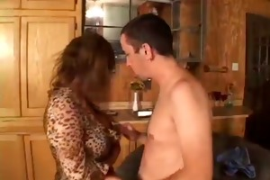 johnny thrust gives a little to gabrielle -