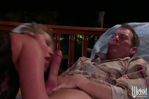 hot big-tit golden-haired whore pornstar sucks