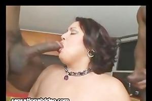 large tit latin chick wife fucks 2 large dark rods
