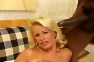 hawt aged blond take a giga darksome dick in