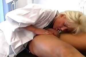 lewd golden-haired mother i nurse pounded hard in