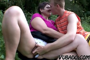 mother i and teenager have a fun outdoor sex