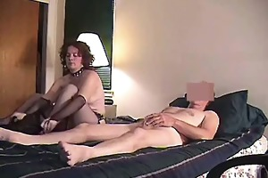 perverted wife makes hubby film her blowing