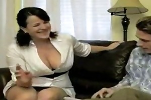 hot breasty smoking mama bangs soninlaw