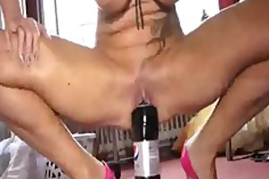 huge cola bottle and fisting penetrations