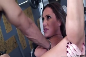 sky taylor drilled in the gym