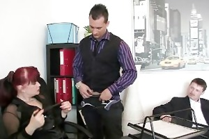aged office whore enjoys jocks