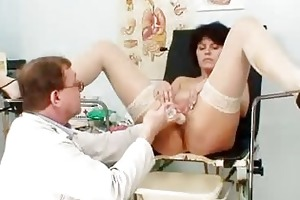 wifey matured lousy speculum vag investigation