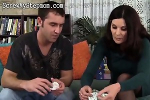 slutty stepmom insane for younger shlong