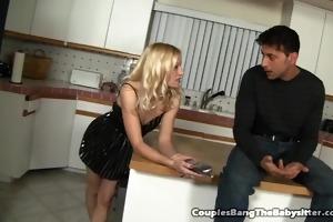 perverted couple seduces the babysitter