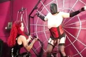 domina melissa punishes crossdresser bondman
