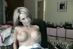 nice-looking blond mother i disrobes fingers