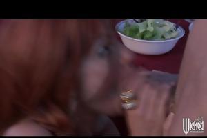 big-tit redhead wife floozy copulates hard-dick