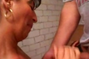 older dilettante wife homemade anal with facial