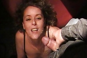 hawt wife sucks off 18 dudes at the swingers club