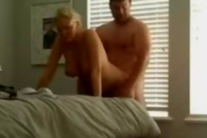 breasty blond wife receives screwed doggy style