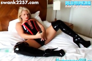 robyn is a large blond with big toys to play