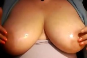 d like to fuck plays with her large milk sacks