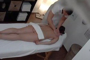 breasty mother i receives drilled during massage