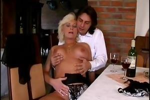 german mamma enjoys her first anal sex