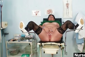 older big beautiful woman wife is fingering her