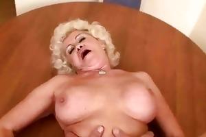 nasty granny receives screwed in pov