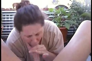 bulky dilettante wife homemade oral-job and fuck