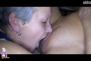 old granny and hot girl