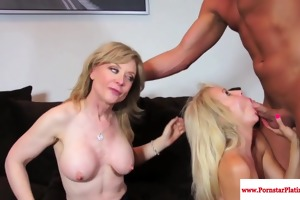 nina hartley threeway with aged erica