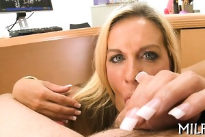 beauty is engulfing cock hungrily